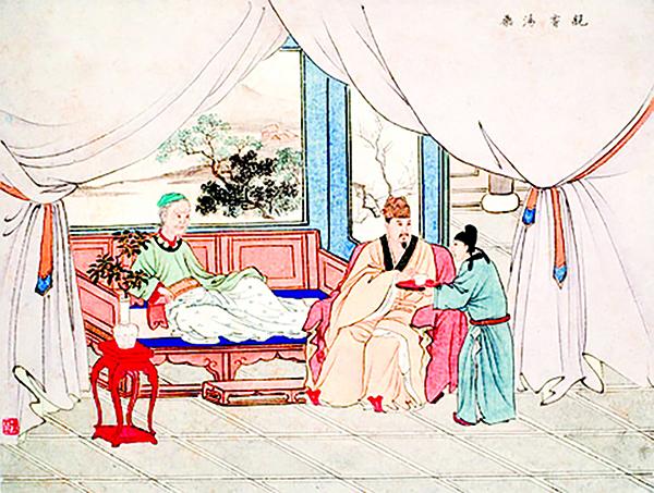 陳少梅《二十四孝》故事 親嚐湯藥與刻木事親