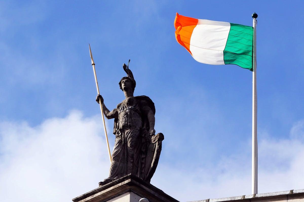 愛爾蘭國旗(PAUL FAITH/AFP)