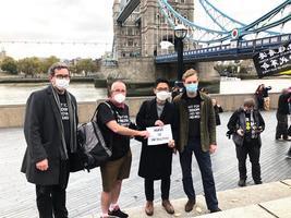 羅冠聰倫敦集會籲救12港人:決心長期抗共