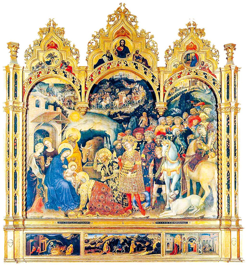 簡提列·德·法布里阿諾的作品《三博士來朝》(The Adoration of the Magi)。(公有領域)
