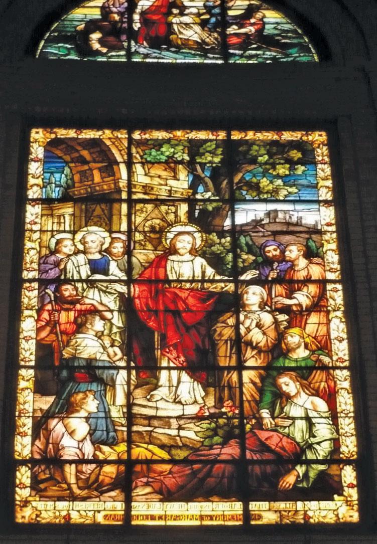 聖勞倫斯教堂的一扇彩色玻璃。(CC BY-SA 3.0, Jane023/Wikimedia Commons)