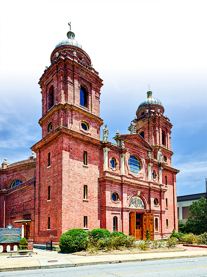 北卡羅來納阿什維爾(Asheville)的聖勞倫斯教堂。  (公有領域)