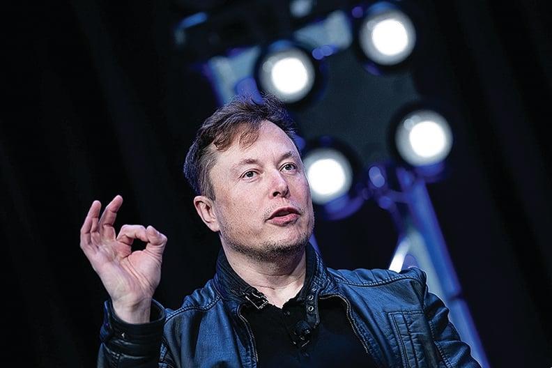 馬斯克也是電動汽車製造商特斯拉(Tesla)的老闆,他一直對該衛星互聯網服務持謹慎態度。(Brendan Smialowski / AFP)