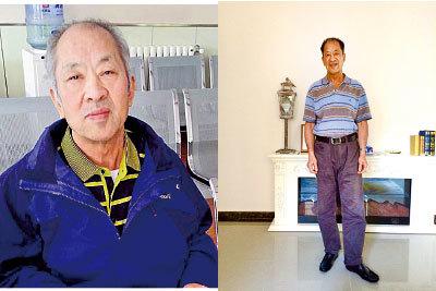 因赴美探親遭中共阻攔的王治文8月13日回到北京家中,受到更嚴密的監控。左圖為2014年剛出獄的王治文,右圖為王治文近照。(大紀元資料庫)