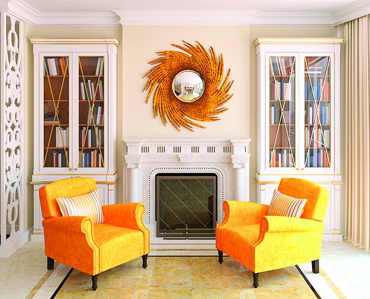 古典風格的室內設計講求的是外觀結構勻稱平衡。