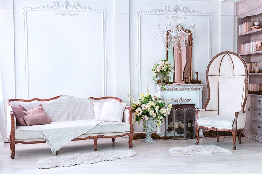選擇純白色可以打造更清新的古典風格。