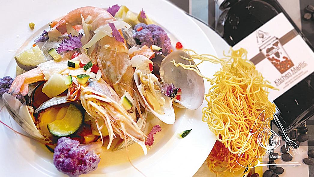 香煎牛油大頭蝦(西式)。(Kitchen Madlic提供)