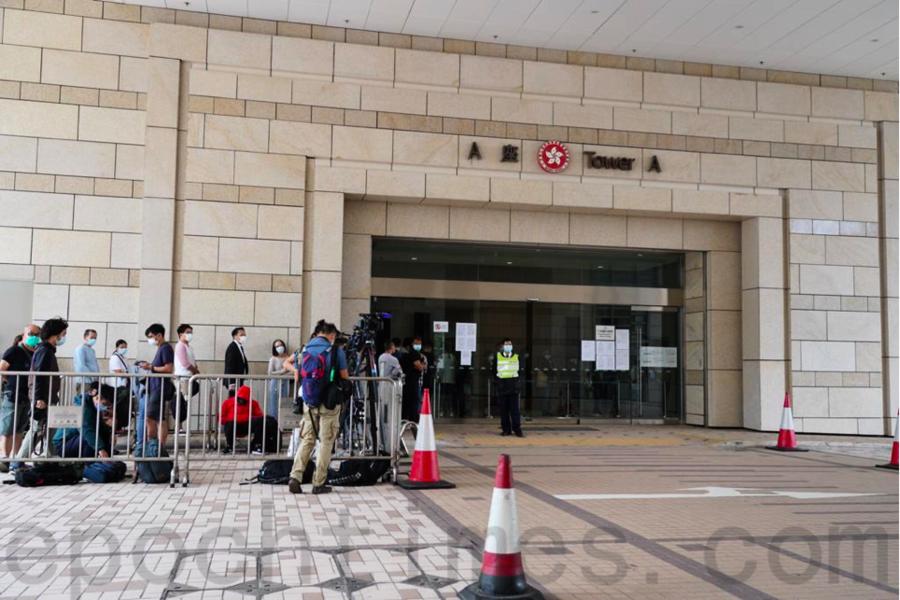 【圖片新聞】鍾翰林被控違反港版國安法 西九龍法院提堂