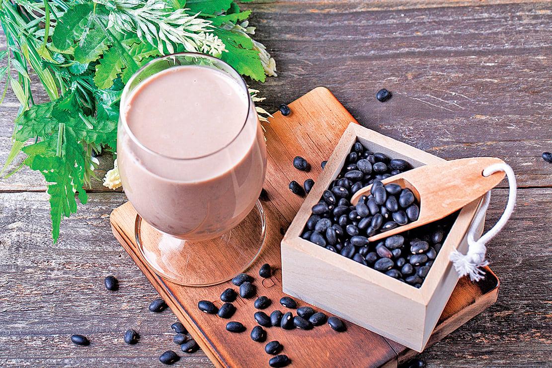 黑米豆漿。