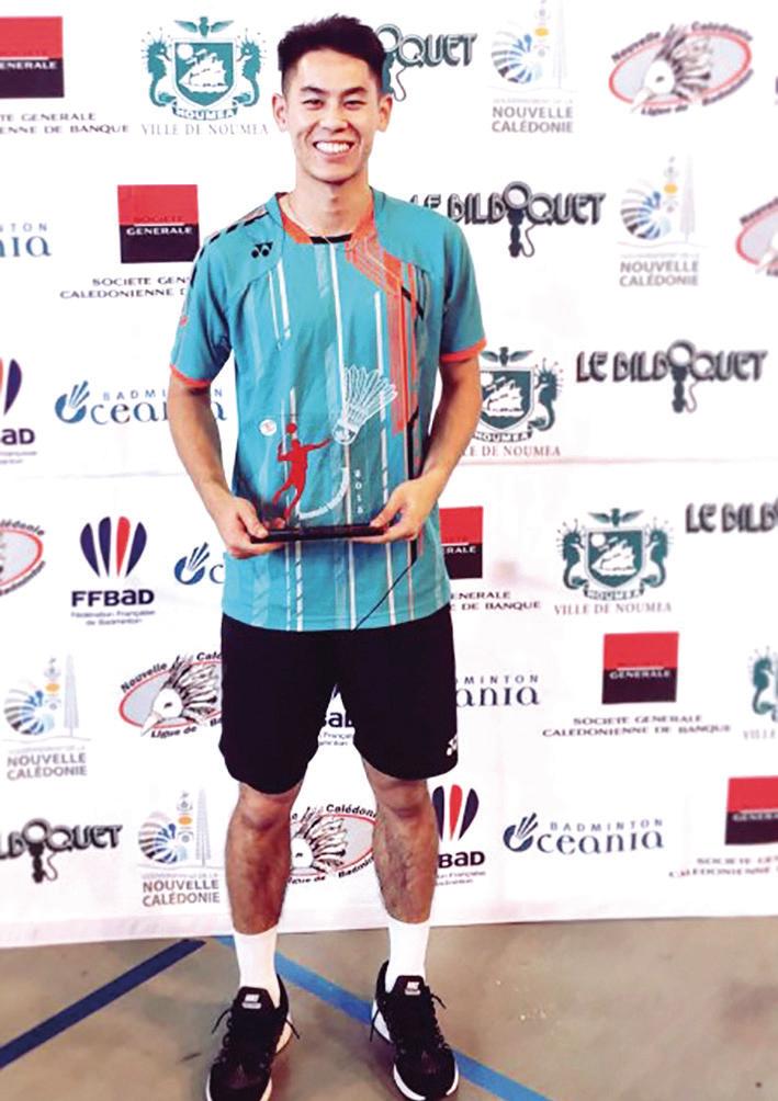 2015新赫里多尼亞錦標賽男單冠軍。(舒之顥提供)