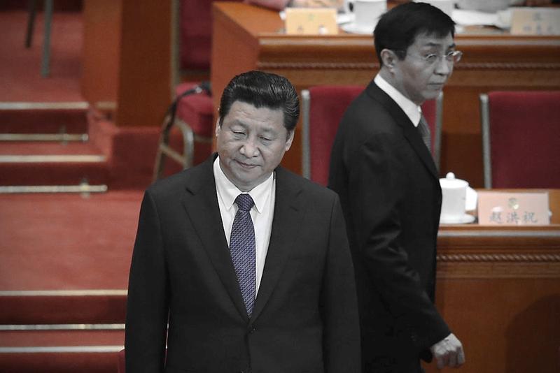 有評論認為,習近平突換「國妖」王滬寧,表明習正在緊抓高層人事布局,王的命運難料。(Feng Li/Getty Images)
