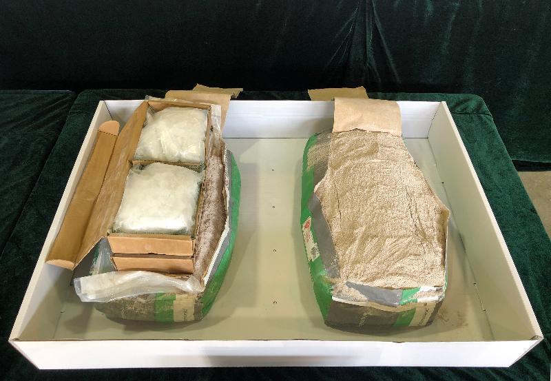 香港海關破最大毒案 水泥貨櫃藏逾五百公斤冰毒