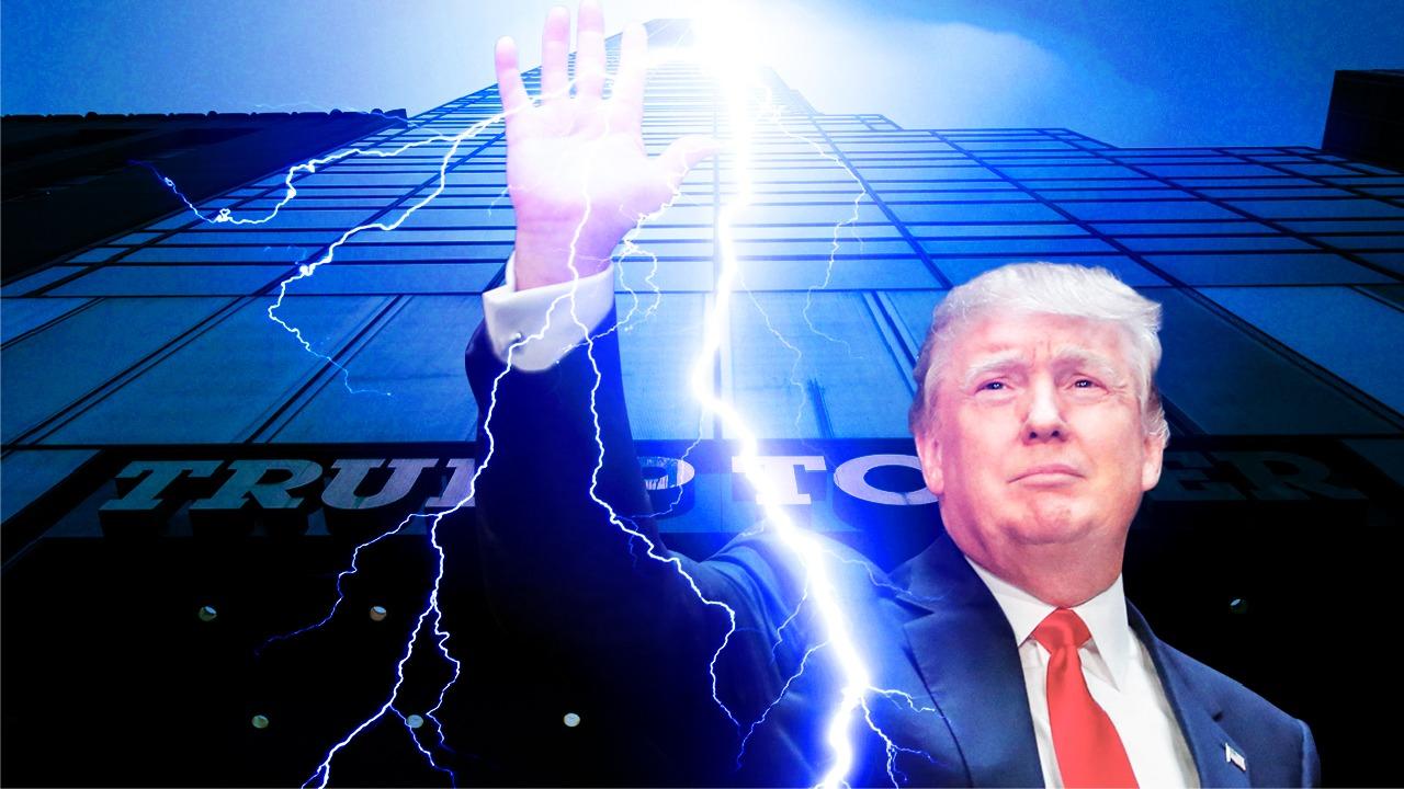 2020年美國總統大選已經進入最後倒數計時階段,此時,左媒拚命攻擊現任總統特朗普,《華爾街日報》於10月20日發出一篇評論,稱「如果特朗普想勝選,除非被雷擊中同一個地方二次」。就在此後兩天,22日凌晨2時14分,特朗普大樓連續遭遇三次雷擊,「神」回覆了《華爾街日報》的 「預言」。(大紀元製圖)