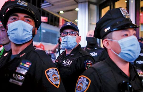 美總統大選日臨近 各地警方都做準備應對騷亂