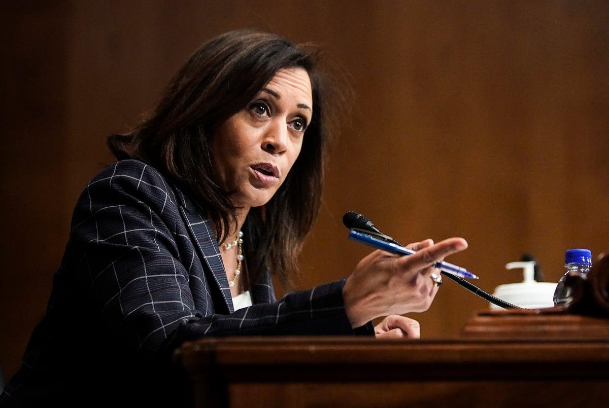 2020年民主黨副總統候選人賀錦麗(Kamala Harris)資料照。(Alexander Drago-Pool/Getty Images)