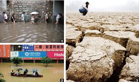 中國各地災害,引發糧食危機來臨。(大紀元資料室)