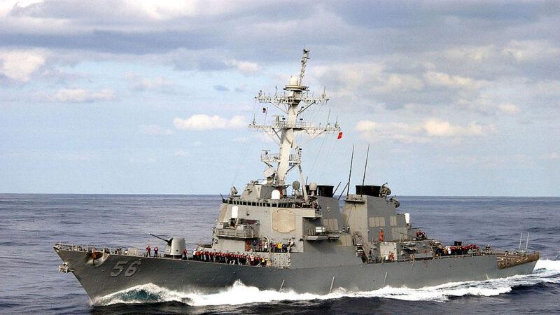 美軍驅逐艦麥凱恩號(USS John S. McCain)。(Petty Officer 3rd Class Todd FrantomU.S. Navy via Getty Images)