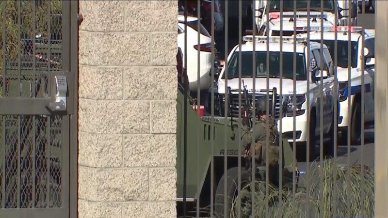 美國內華達州的漢德森3日上午發生涉及警方的槍擊事件,已知4人喪生。(FOX5 Las Vegas 影片截圖)
