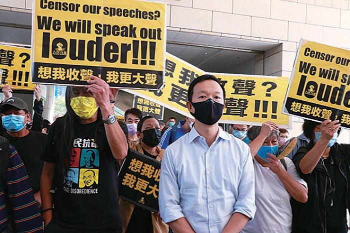譚得志涉3案14罪保釋拒