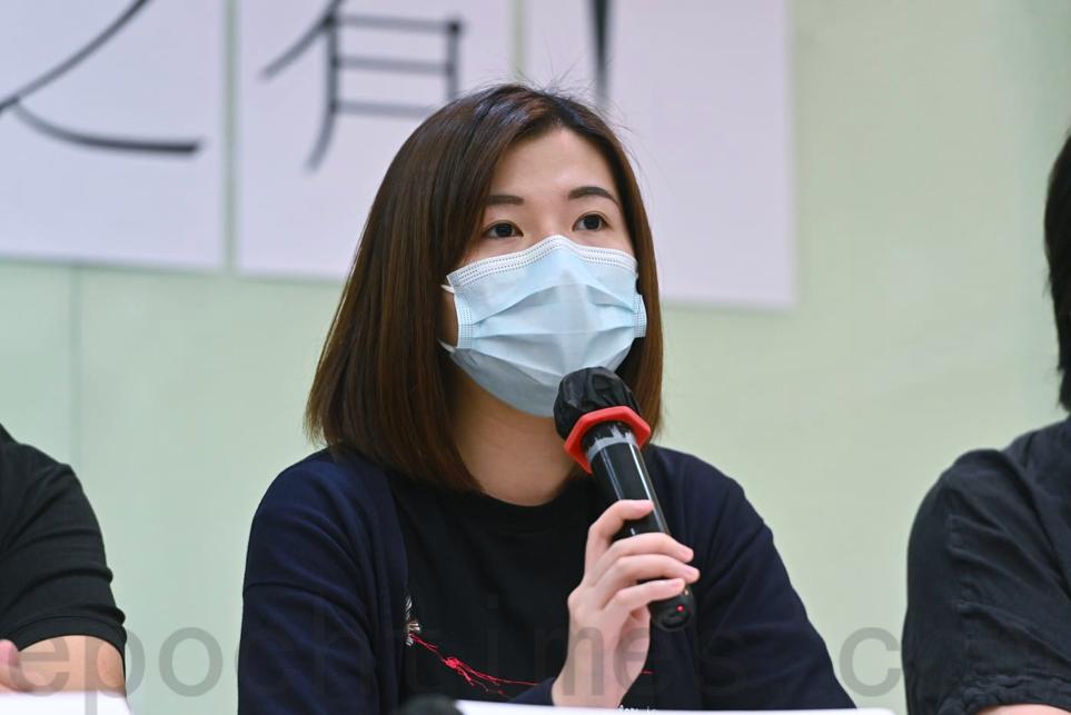 明報職工協會主席許芳文表示,傳媒以查冊獲取資訊涉及重要公眾利益。(宋碧龍/大紀元)