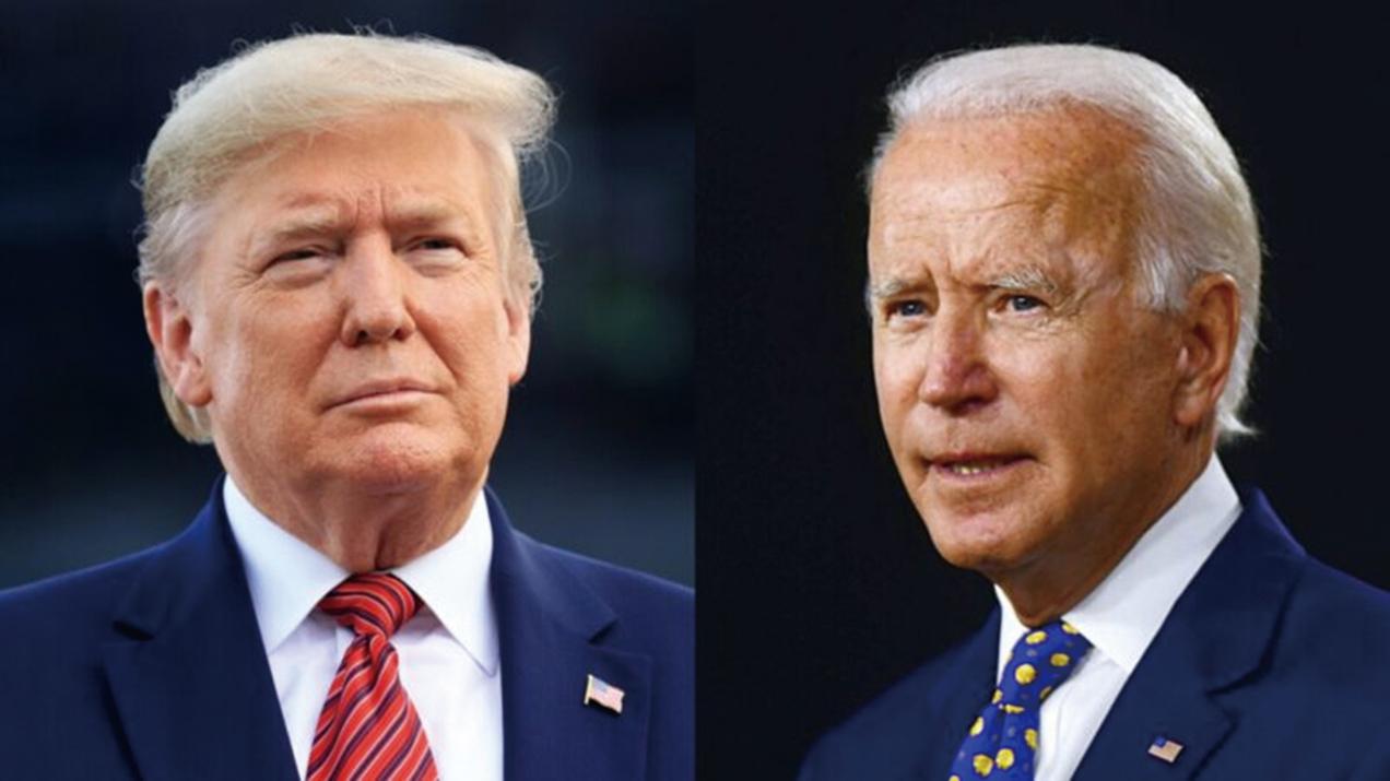 左圖為美國總統當勞特朗普;右圖為民主黨總統候選人祖拜登。(Chris Graythen/Getty Images; Andrew Caballero-Reynolds/AFP via Getty Images)
