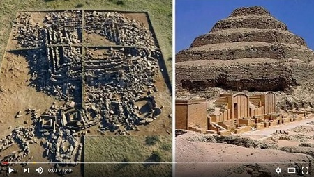考古學家去年在哈薩克發現一座金字塔,結構類似於埃及的喬塞爾金字塔,近日鑑定發現,這座金字塔竟然比埃及金字塔早1000年建成。(YouTube視像擷圖)