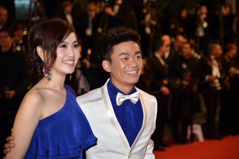 圖為王寶強(右)與馬蓉。(ALBERTO PIZZOLI/AFP/Getty Images)