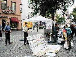 德國主流媒體報道紐倫堡法輪功煉功點