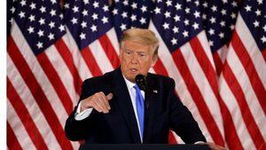 演說遭三大媒體中斷直播 特朗普誓言永不放棄