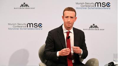 面書的創始人兼行政總裁朱克伯格(Mark Zuckerberg)。(CHRISTOF STACHE/Getty Images)