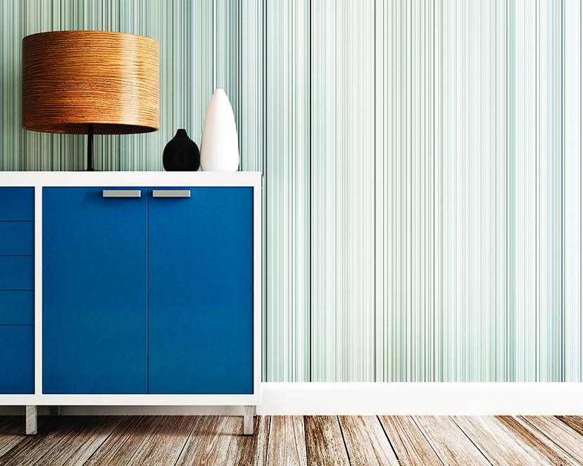 拼貼壁紙的好處是更換容易,可以根據室內布置風格調整圖案。(shutterstock)