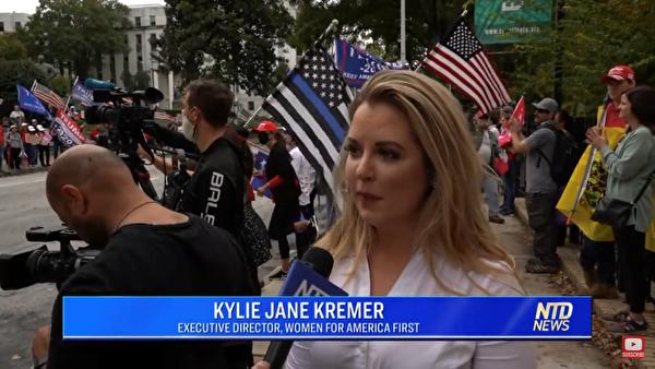 集會組織人Kylie Jane Kremer女士接受新唐人新聞(NTD News)採訪。(NTD)