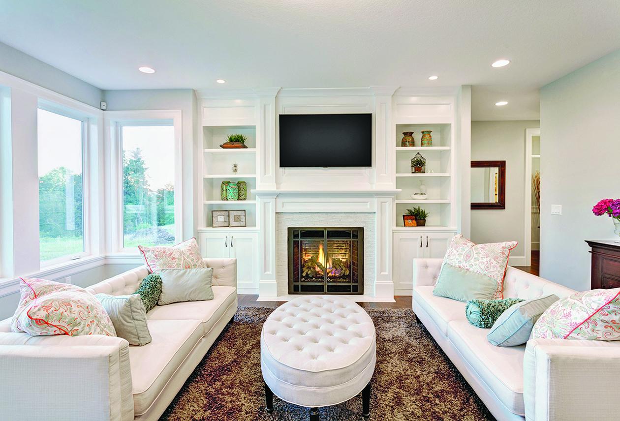 客廳的地毯要能覆蓋沙發和扶手椅的前腿下方。