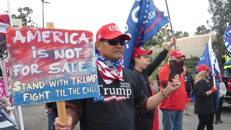全美各地抗議大選舞弊。(圖片來源:大紀元)