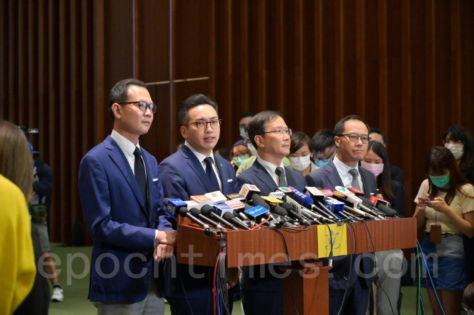 11月11日,港府在宣佈取消4名民主派議員資格。(郭威利/大紀元)