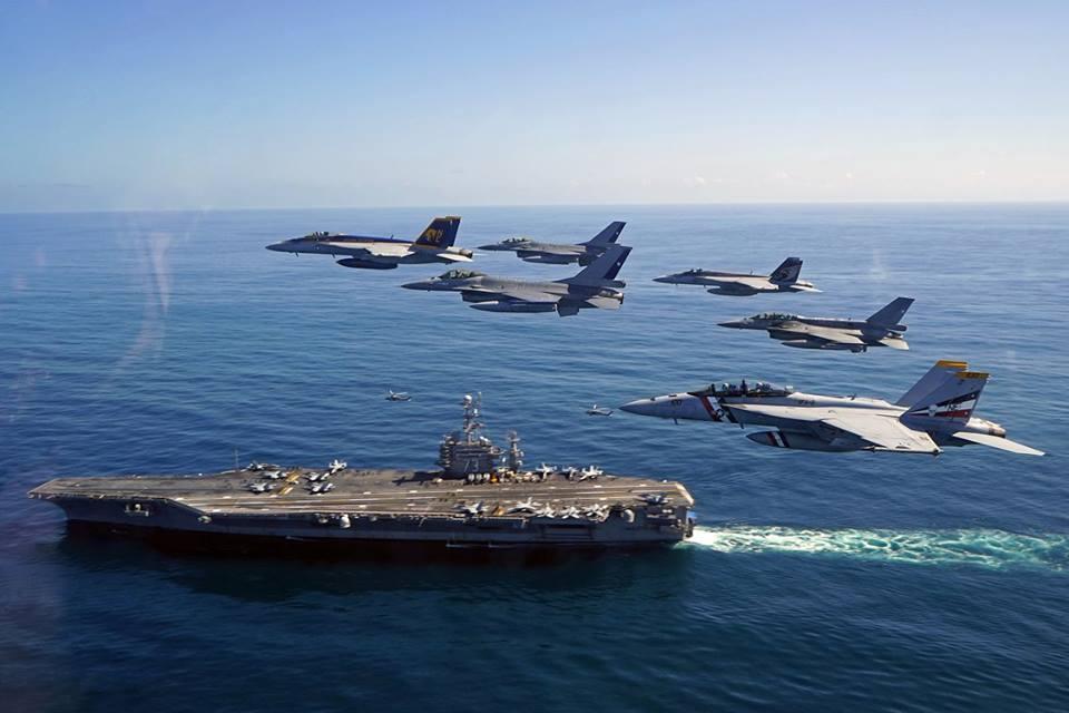 以美國國父華盛頓命名的核動力航空母艦喬治・華盛頓號(USS CVN-73)(喬治・華盛頓號臉書)
