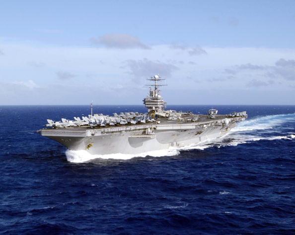 林肯號核動力航母。(Getty Images)