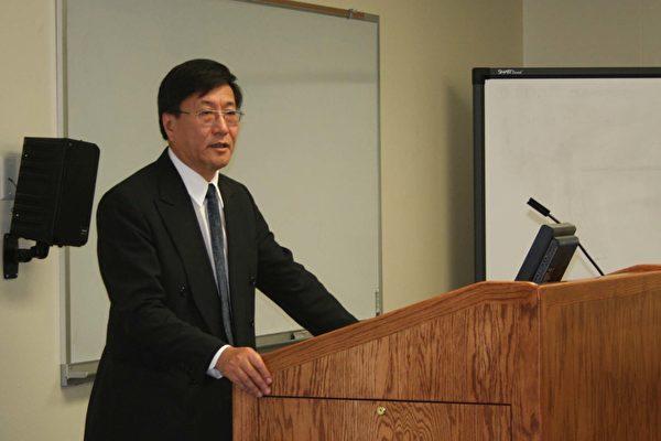 程曉農博士在德州大學講演(大紀元)