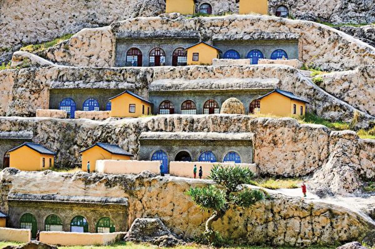 黃土高原窯洞一景。(Shutterstock)