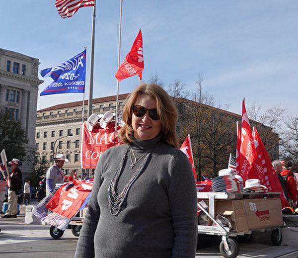 來自內布拉斯加州的小企業主德普特(Christy Depoorter)女士。(亦平/大紀元)