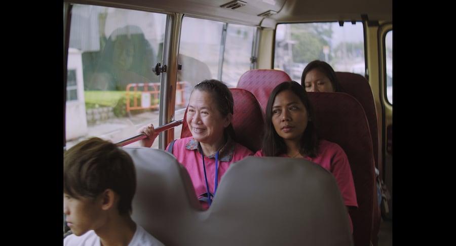 電影《出城記》中,小巴循環線是一個重要的拍攝場景。(高先電影提供)