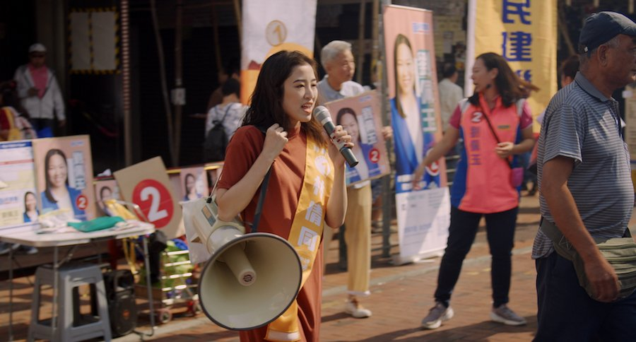 Jessica參加2019年深水埗區議會選舉。(高先電影提供)