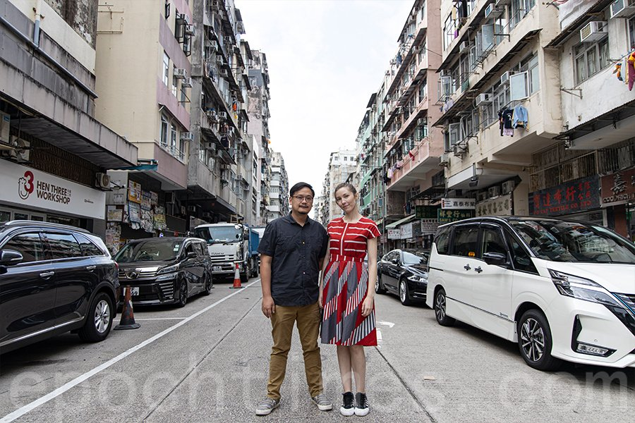 能夠在一個巨變中的時代,用影像記錄屬於香港的故事,兩位導演備感幸運。(陳仲明/大紀元)