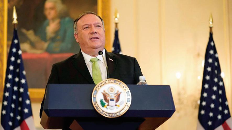 美國國務卿麥克.蓬佩奧11月12日直接表明:「台灣一直不是中國(中華人民共和國)的一部份。」(PATRICK SEMANSKY/POOL/AFP via Getty Images)