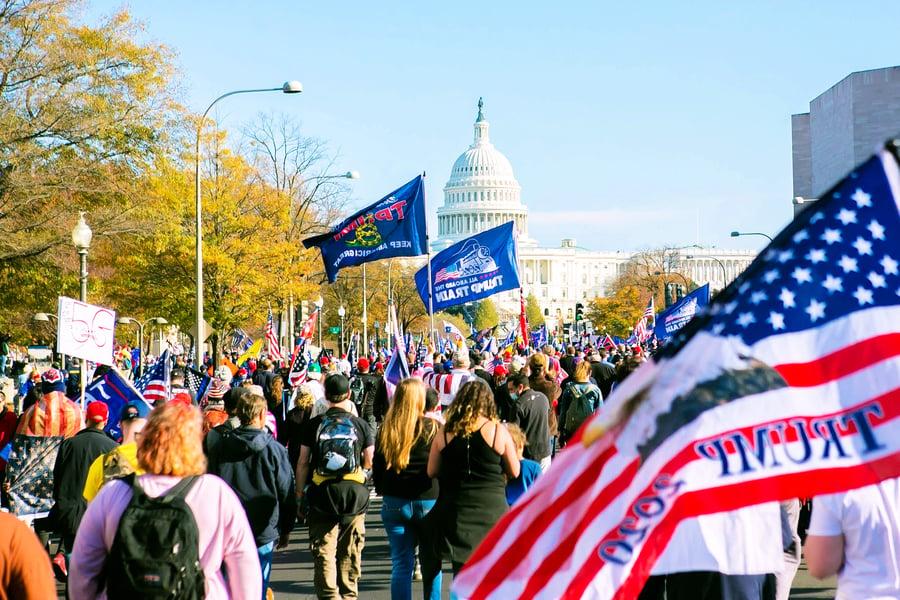 組圖:美國11月14日華府挺特朗普大遊行