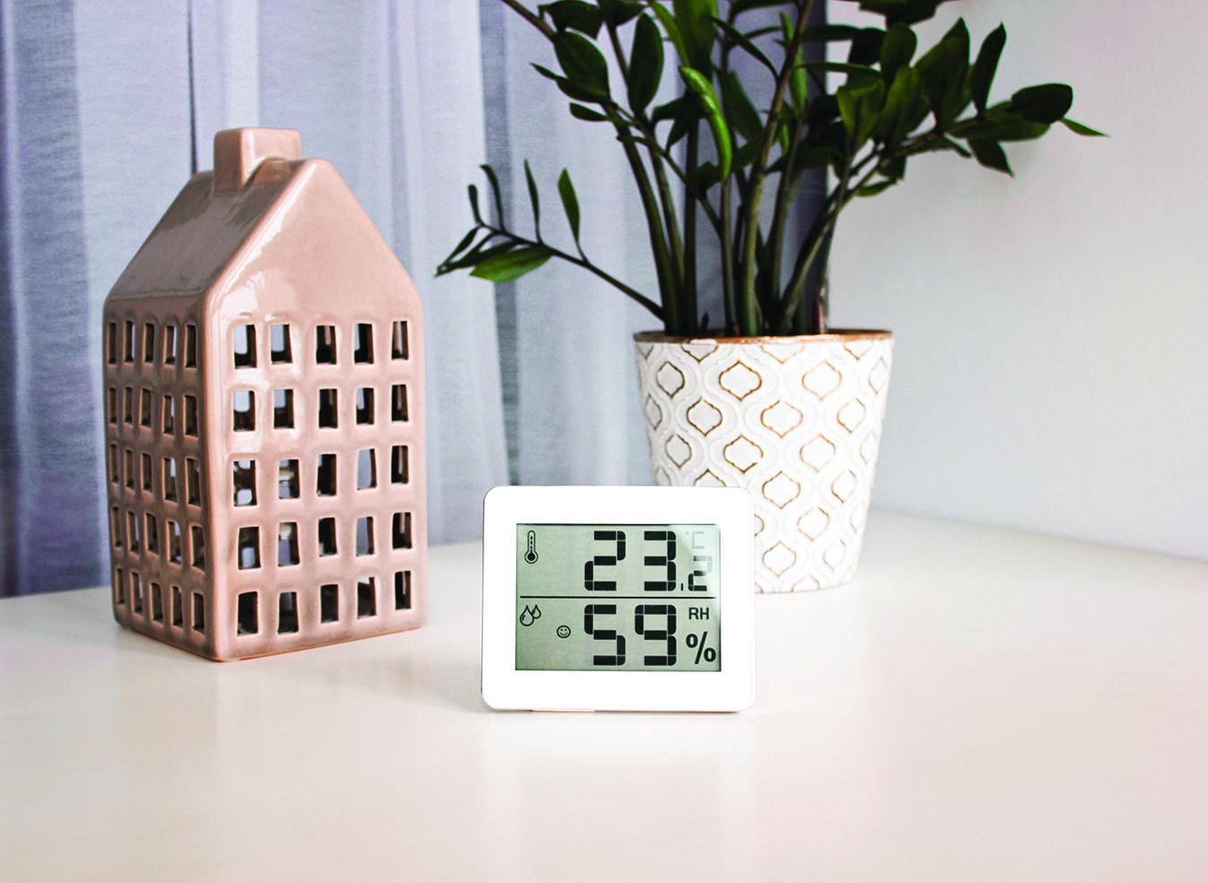 在植物旁擺放溫度計或濕度計,隨時偵測室內的狀況。