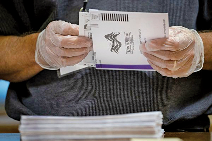 賓州政府信息顯示,選票在寄出前已收回的有23,305人;選票未寄出便已收回的有9,005人,類似可疑選票有118,426張。