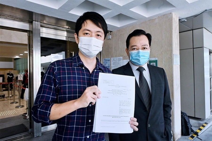 律政司撤兩項私人檢控 許智峯申請司法覆核