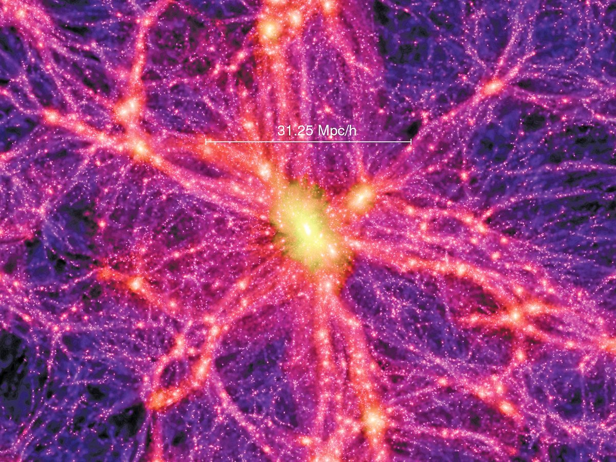 將巨大天體聯繫起來的「宇宙網」示意圖。(NASA)