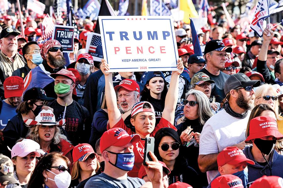 特朗普支持者吹號角民心向背昭然